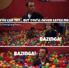 Bazinga!!! I laughed so hard the first time I saw this! One of my favorites.
