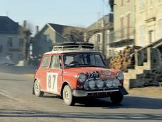 Paddy Hopkirks 1968 Monte Carlo Rally 5th Place Cooper S