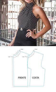 Linda blusa Clothing Patterns, Dress Patterns, Sewing Patterns, Make Your Own Clothes, Diy Clothes, Diy Fashion, Ideias Fashion, Womens Fashion, Feminine Dress
