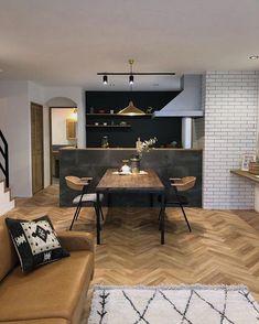Condo Living, Kitchen Living, Living Room, Kitchen Interior, Kitchen Design, Japan Interior, Natural Interior, Small Apartments, Home Renovation