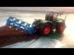Bruder Claas Tractor is on work