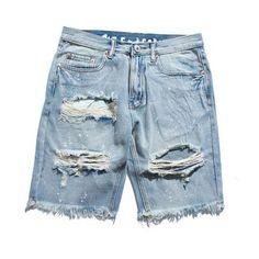 89ed7a7316 Men's shorts. Male FashionFashion PantsMen's Style TypesDistressed Denim  ShortsPatterned ShortsJean ShortsSummerJeans StyleHip Hop