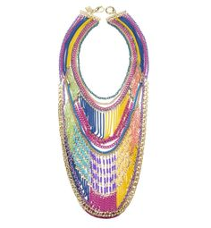 Sequin Multicolor Chain Necklace.