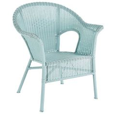 Hand-weaving outdoor wicker is actually a more time-consuming process than weaving regular wicker, but for a classic chair like this, we think it's worth it. Natural-look synthetic rattan woven over a sturdy wrought iron frame makes for casual all-weather comfort, indoors or out. Sized for patios or porches and stackable for easy storage. Optional Standard Cushion is sold separately.