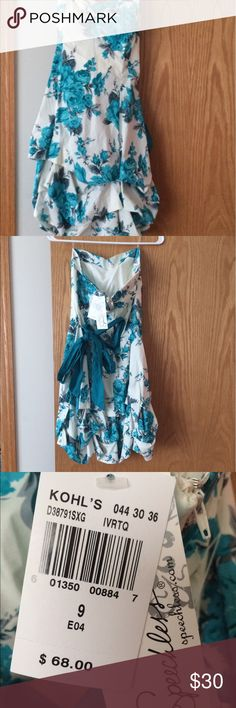 Floral dress New with tags! kohls Dresses Strapless