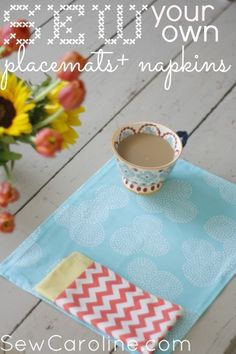 Sew your own placemats + napkins