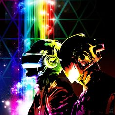 daft punk.  Mk loves daft punk, will need to consider this while changing her room up