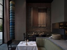 Moody interiors of Le Pristine restaurant take cues from the Old Masters Copenhagen Design, Space Copenhagen, Restaurant Concept, Restaurant Design, Restaurant Interiors, Black Dining Chairs, Interior Architecture, Interior Design, Johannes Vermeer