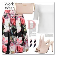 """""""Work Wear :: Off Shoulder Top"""" by jecakns ❤ liked on Polyvore featuring Calvin Klein"""