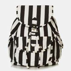 Topshop Stripe Backpack