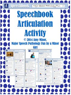 Major Speech Pathology Fun: Speechbook Articulation Activity! Pinned by SOS Inc. Resources. Follow all our boards at pinterest.com/sostherapy/ for therapy resources.