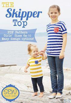 The Skipper Top PDF Pattern