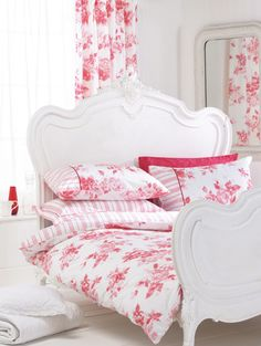The bed needs more height, but love the red and white