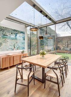 Beispiele Altbau Esszimmer verglaste Terrasse gestalten