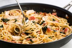 Italian Food Fans Will Go Crazy for This Tuscan Angel Hair Pastacountryliving