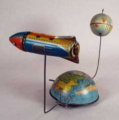 Rocket | Vintage and Retro Space Age Raygun, Rocket and Robot Toys | Sugary.Sweet | #SpaceAge #Toy #RayGun #SciFi