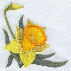how to make an embroidered daffodil trumpet - Google Search