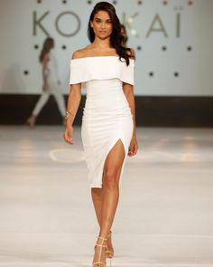 """""""@shaninamshaik is white hot in the Positano Dress & Brazillia Heels, shop the look in Boutiques and Online xx #kookai"""""""