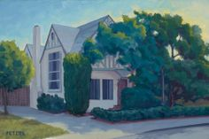 """""""Bela Lugosi's House"""" - oil on canvas 10 x 12 inches, by Tony Peters"""