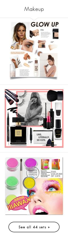 """""""Makeup"""" by marianna-cat ❤ liked on Polyvore featuring beauty, Bobbi Brown Cosmetics, Korres, By Terry, Benefit, NYX, Hourglass Cosmetics, L'Oréal Paris, Avon and Marc Jacobs"""