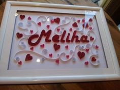 quilling by me #quilling #frame #quillingname #qullingart #craftshop