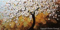 CUSTOM Art Abstract Painting White Cherry by ChristineKrainock