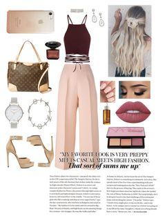 """""""pretty in pants ♡"""" by tlphil on Polyvore featuring Fendi, Louis Vuitton, Givenchy, ERTH, Olivia Burton, Rebecca Minkoff, Lime Crime and NARS Cosmetics"""