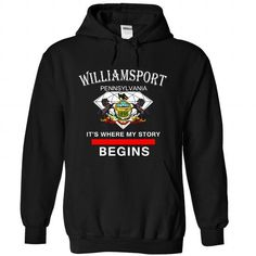 Williamsport - Pennsylvania - Its where my story begins - #gift basket #monogrammed gift. CHEAP PRICE => https://www.sunfrog.com/LifeStyle/Williamsport--Pennsylvania--It-Black-37589286-Hoodie.html?68278