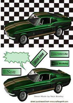 GREEN SPORTS CAR on Craftsuprint - Add To Basket!