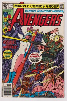 644 best Marvel Comic Books   TeamVintageUSA images on Pinterest Avengers  Vol 1  195  Bronze Age Comic Book  FN   5 5