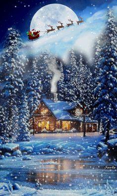 Merry Christmas Wallpaper, Merry Christmas Gif, Merry Christmas Pictures, Christmas Scenery, Vintage Christmas Cards, Christmas Love, Christmas Wishes, Christmas Greetings, Beautiful Christmas