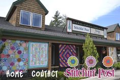 Interesting quilt store in Central Oregon.  Sponsor of the largest outdoor quilt show.
