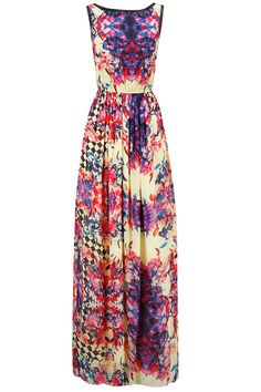 Floral print contrast binding maxi dress available only at Pernia's Pop-Up Shop.