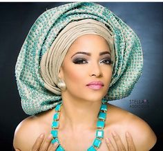 Must Have: Beaded Crystal And Stone-Embellished Gele Turbans, Headscarves, African Beauty, African Women, African Style, African Bridal Dress, Bridal Dresses, Bridal Veils, Afro