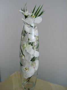46- Vaso grande com Orquídea Phalaenopsis e folhagem