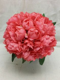 No. 3088 Coral Peony Bouquet - Artificial Flower Bouquet, Artificial Flower, Wedding Bouquet, Bridesmaid Bouquet. by AFlowerAndMore on Etsy https://www.etsy.com/listing/235491726/no-3088-coral-peony-bouquet-artificial