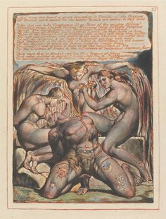 William Blake, Jerusalem: Plate 25, Albion and his Tormentors