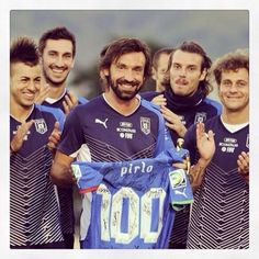 Pirlo 100th game for the Azzurri in Brazil Confederations Cup 2013