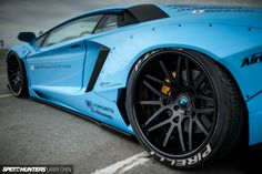Liberty Walk Lamborghini Aventador side detail rear angle