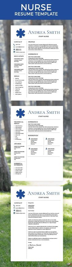 Creative Resume Template - CV Template - Free Cover Letter - Word - free nurse resume template