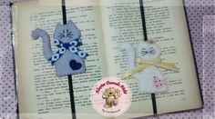 Marcadores de páginas #felt #feltro #alecimdouradoatelie #cats #gatos