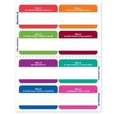 Icebreaker Name Tag Kit - fun icebreaker questions to add to your nametags for your high school reunion Beginning Of The School Year, First Day Of School, Middle School, High School, Fun Icebreakers, Icebreaker Activities, Leadership Activities, Leadership Development, Professional Development