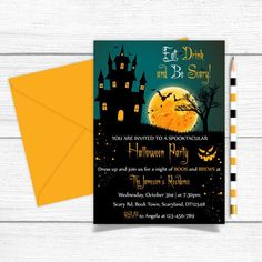 If you're planning to throw a monster bash this Halloween, then you'll need the perfect party invitations to entice guests to your house of horrors. Adult Halloween Invitations, Adult Halloween Party, Halloween Costumes, Horror House, Perfect Party, Paper Goods, Invite, Scary, Printables