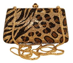 Leopard Print Swarovski Crystal Evening Bag Handbag Purse by Anthony David Swarovski Crystal Clutch Purses, Evening Bags, Leather Purses, Jewelry Leopard Fashion, Animal Print Fashion, Tote Handbags, Purses And Handbags, Moda Animal Print, Animal Prints, Clutch Bag, Crossbody Bag, Leopard Bag