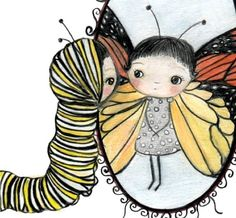 The caterpillar glanced upon her reflection and realised that she had finally become a beautiful butterfly...because on the inside she was truly beautiful and that was the most important thing