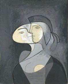 Pablo Picasso(1881-1973), Marie-Thérèse,face et profil, 1931 on ArtStack #pablo-picasso-1881-1973-4 #art