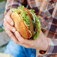 Rezept: Roberts Classic Burger mit Lupinen-Seitan-Pattie