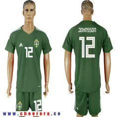 Sweden 12 JOHNSSON Military Green Goalkeeper 2018 FIFA World Cup Soccer  Jersey Football Kits 96126ca23