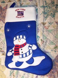 6a1463a4322 NEW YORK GIANTS FOOTBALL TEAM HUGE CHRISTMAS STOCKING NEW NEVER USED FREE  SHIPPING GOTTA SEE THIS !!