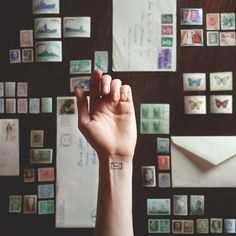 small envelope tattoo matched with its background, by Austin Tott, 'Tiny Tattoos' Mini Tattoos, Little Tattoos, Sexy Tattoos, Cute Tattoos, Beautiful Tattoos, Small Tattoos, Tatoos, Bff Tattoos, Ankle Tattoos